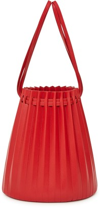 Mansur Gavriel Lamb Pleated Bucket Bag - Flamma