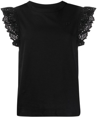 Philosophy di Lorenzo Serafini lace trim T-shirt