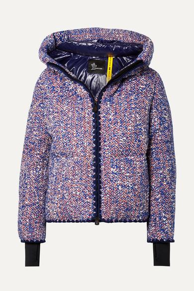 MONCLER GENIUS + 3 Grenoble Wool-blend Boucle Down Jacket - Blue