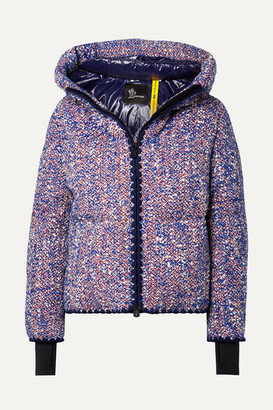MONCLER GENIUS + 3 Grenoble Wool-blend Boucle Down Jacket - Blue