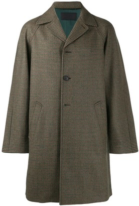 Prada Tweed Single-Breasted Coat
