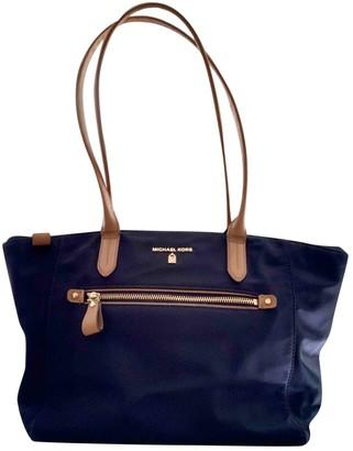 Michael Kors Navy Synthetic Handbags