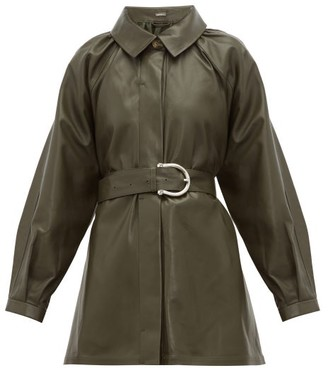 Dodo Bar Or Berry Belted Leather Jacket - Womens - Khaki