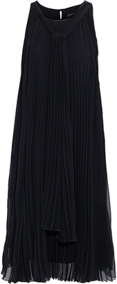 Max Mara Clelia Draped Pleated Georgette Dress