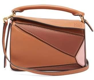 Loewe Puzzle Mini Leather Cross-body Bag - Womens - Tan Multi