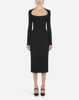 Dolce & Gabbana Long-Sleeved Cady Mini Dress
