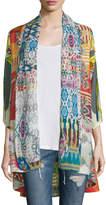 Johnny Was Mix-Print Kimono Jacket, Plus Size
