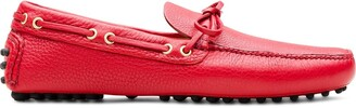 Car Shoe Bow-Detail Driving Loafers