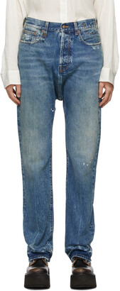 R13 Blue Izzy Drop Jeans