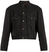 Balenciaga Exaggerated-shoulder Cropped Denim Jacket