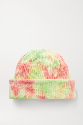 The Elder Statesman Watchman Tie-dyed Ribbed Cashmere Beanie - Pink