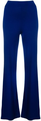 D-Exterior D.Exterior high waisted flared trousers