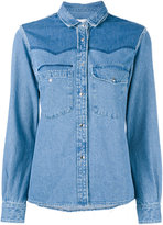Golden Goose Deluxe Brand stonewashed denim shirt - women - Cotton - XS