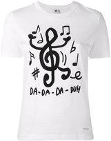 Paul Smith song note print T-shirt - women - Cotton - M