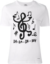 Paul Smith song note print T-shirt