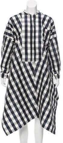Maison Rabih Kayrouz Gingham Oversize Dress w/ Tags