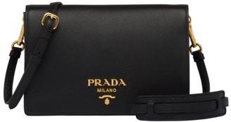 Prada Daino Leather Crossbody Bag