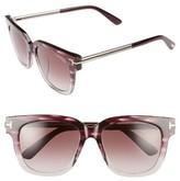 Tom Ford Women's Tracy 54Mm Retro Sunglasses - Grey/ Gradient Smoke