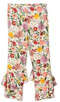 MANGO Ruffles floral trousers