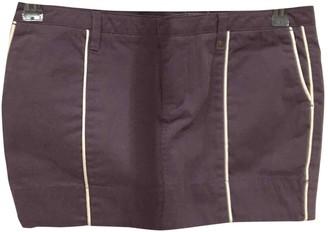 Diesel Purple Cotton - elasthane Skirt for Women