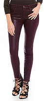 Joe's Jeans Mid Rise Icon Skinny Ankle Coated Jeans
