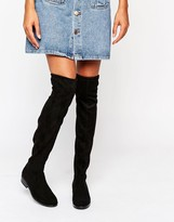 Dune Taliah Suede Flat Over The Knee Boots