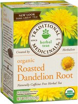 Traditional Medicinals Organic Roasted Dandelion Root Herbal Wrapped Tea Bags