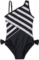 DKNY Girls' Little Perks Lovely Jubbly One Shoulder One Piece (6yrs) 8128980