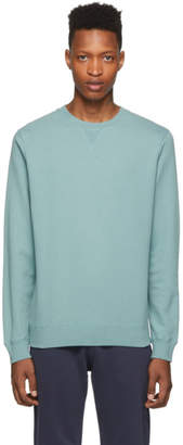 Sunspel Blue Cotton Loopback Sweatshirt