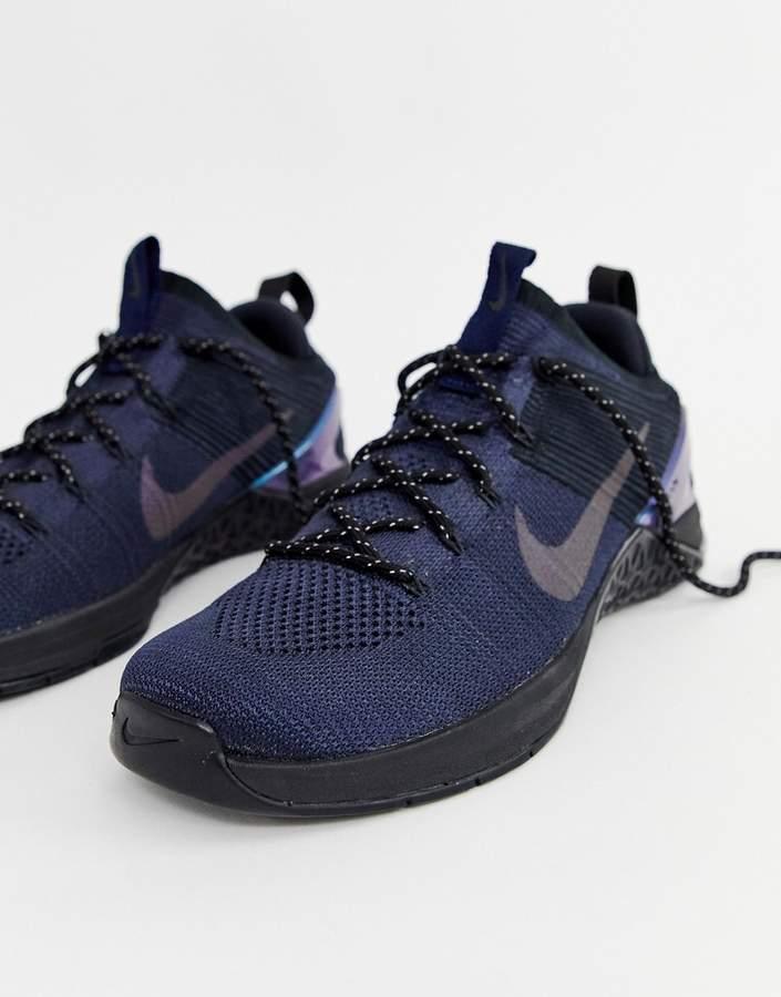 Nike Training Metcon dsx Flyknit sneakers in navy av3839-400