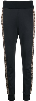 Fendi Logo Trim Track Pants