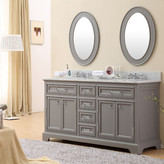 """Darby Home Co Colchester 60"""" Double Sink Bathroom Vanity Set - Grey"""