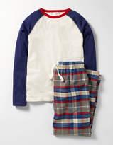 Pyjama Set Grey Marl Check Boys Boden