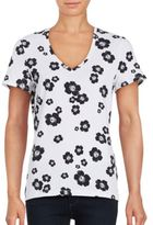 Lord & Taylor Wild Flowers T-Shirt
