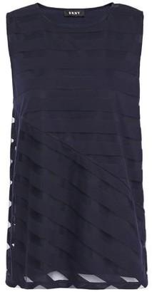 DKNY Striped Devore-jersey Top