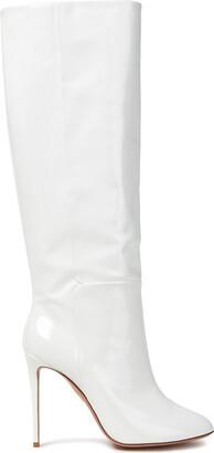 Aquazzura Brera Patent-leather Knee Boots