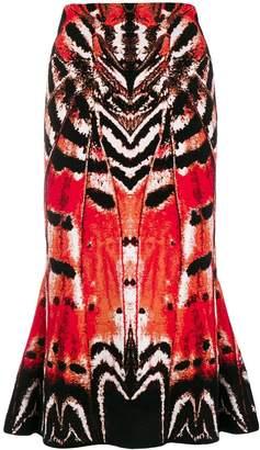 Alexander McQueen abstract print skirt