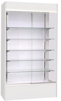 K&C KC Store Fixtures Wall Display Case with LED Light KC Store Fixtures Finish: White
