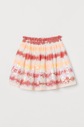 H&M Sequin-detail cotton skirt
