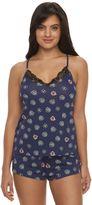 Women's Flora by Flora Nikrooz Pajamas: Amelia Printed Cami Tank Top & Shorts Pajama Set
