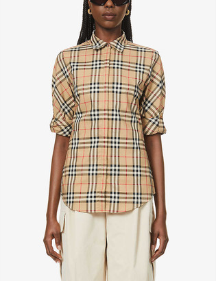 Burberry Luka vintage-checked stretch-cotton shirt