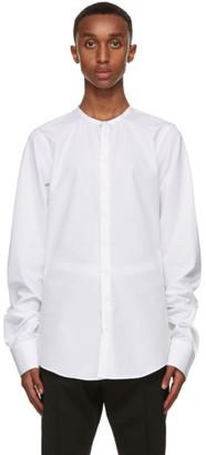 DSQUARED2 White Poplin Band Collar Shirt