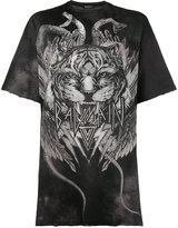 Balmain - t-shirt oversize à tigre im