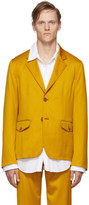 Sies Marjan Yellow Virgin Boden Twill Blazer