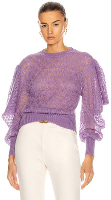 Alberta Ferretti Exaggerated Sleeves Sweater in Lilac | FWRD