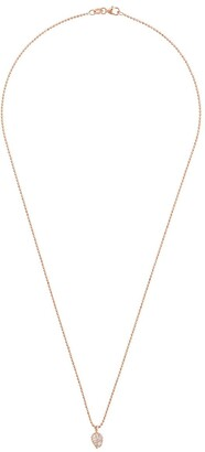 Anita Ko 18kt Rose Gold Small Palm Leaf Pendant Necklace