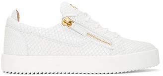 Giuseppe Zanotti White Croc Frankie Sneakers