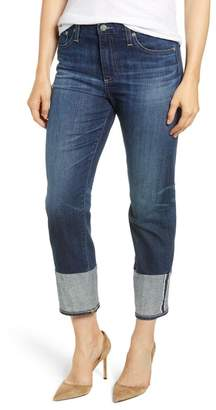 AG Jeans The Isabelle High Waist Cuff Crop Straight Leg Jeans