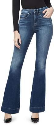 Good American Flared Trouser-Hem Jeans in Blue293