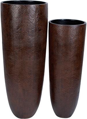 Uma Enterprises Set Of Two Metal Vases